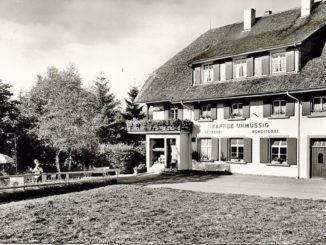 Das Café Unmüßig in Hinterzarten um 1935.
