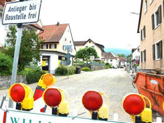 Baustelle Hauptstrasse Kirchzarten