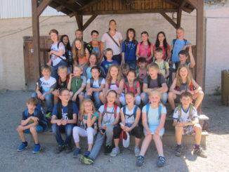 Schülerinnen und Schüler der Klassen 3/4a und 3/4b der Schauinslandschule Kappel