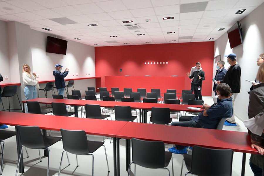 Der Presseraum im neuen Stadion