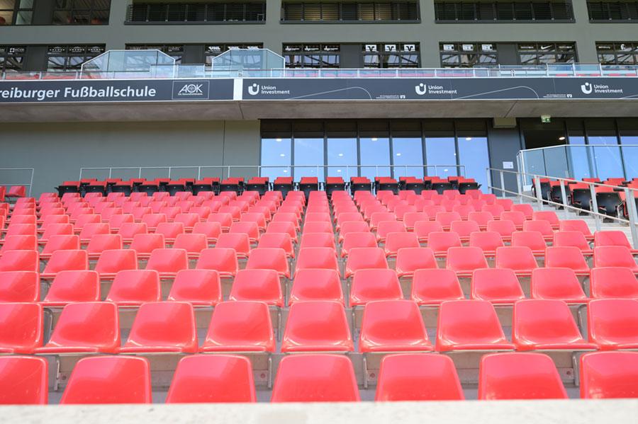Sitzplätze im Europa-Park Stadion