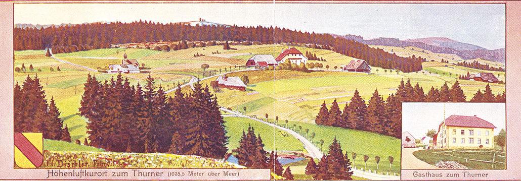 Doppel-Postkarte von Hermann Dischler