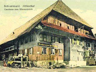 Das Gasthaus Himmelreich um 1910. Archiv Peter Bender
