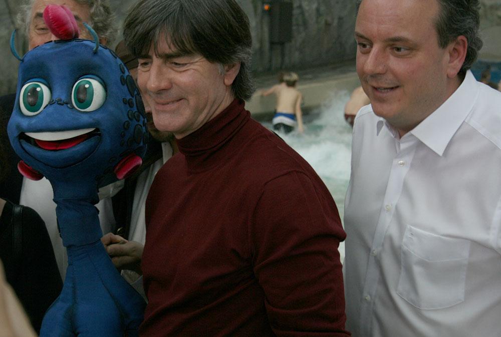 Bundestrainer Joachim Löw mit Michael Mack
