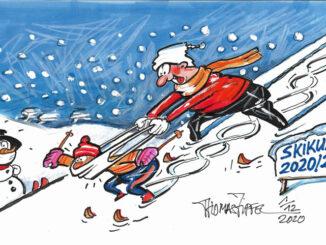 Zipfel Cartoon Skikurs