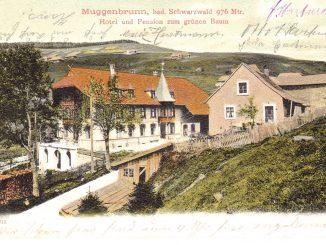 Gasthaus Muggenbrunn 1900