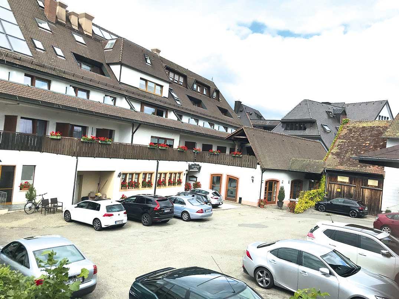 Rückansicht des Hotel Fortuna